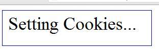 setting cookies