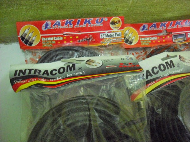 "Kabel Antena Tv Coaxial ""Intracom"" dan Akiku"