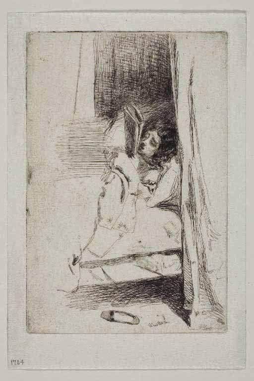 James McNeill Whistler, Leyendo en la cama o La zapatilla