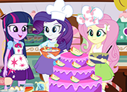 Equestria Girls Cooking Cake juego