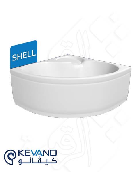 بانيو ركنة كيفانو- موديل شل 120×120 سم أبيض بالجانب