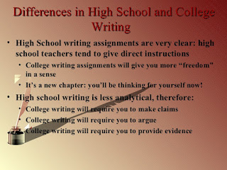 Why Writing for College Differs from Writing in High School