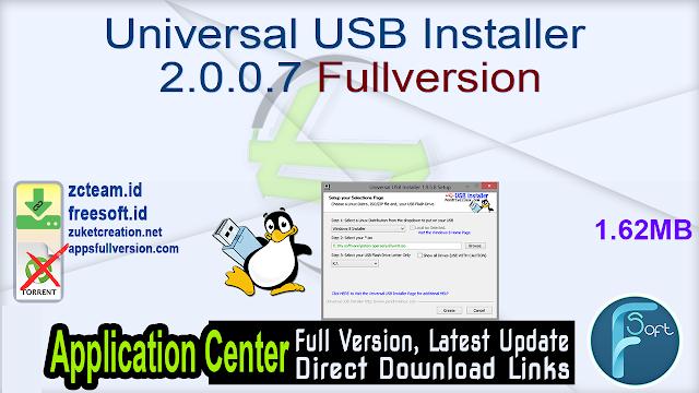 Universal USB Installer 2.0.0.7 Fullversion