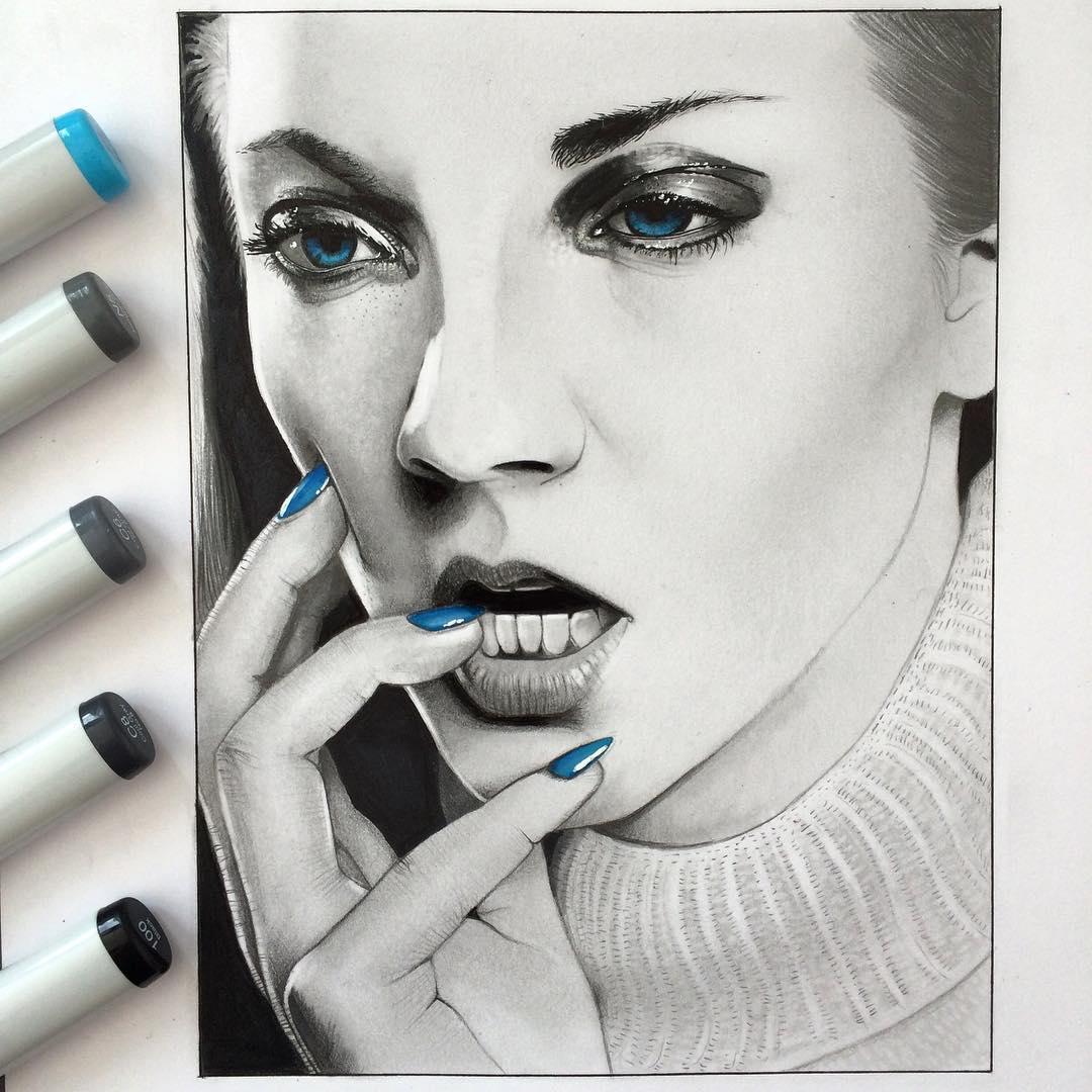 06-Natalie-Dormer-Simon-Balzat-Colored-Pencils-make-Beautiful-Drawings-www-designstack-co