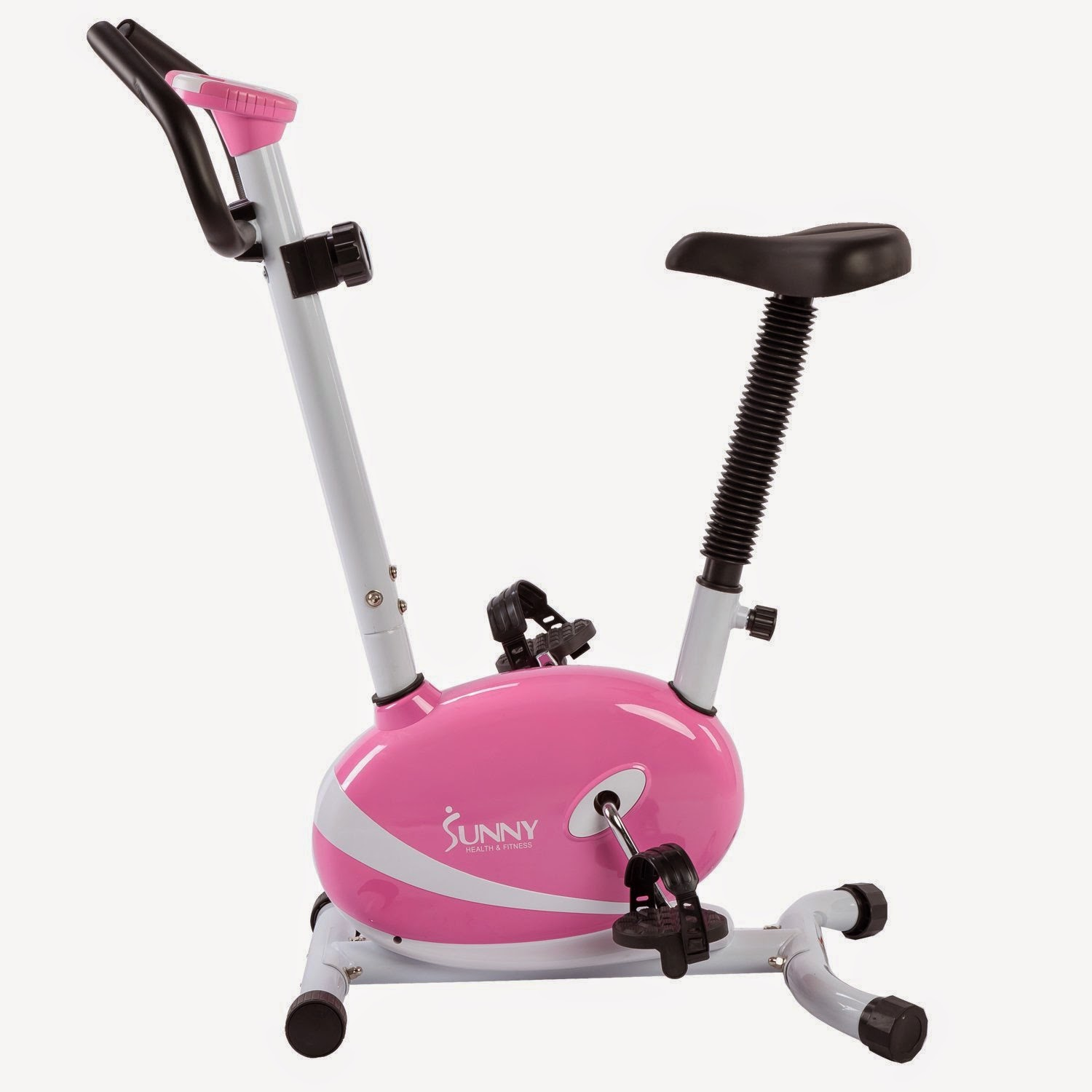 Sunny Health & Fitness Pink Magnetic Upright Bike, review features