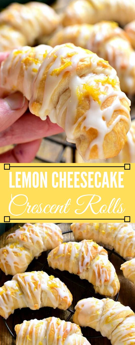 LEMON CHEESECAKE CRESCENT ROLLS #desserts #cakes #lemon #cheesecake #easy