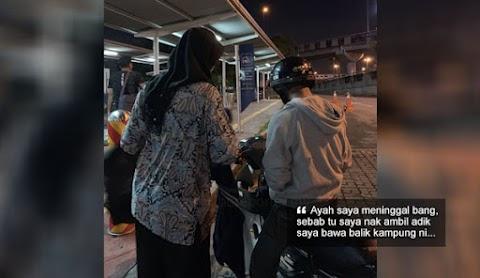 'Saya nak pickup adik sebab ada orang meninggal di kampung' - Abang naik motor dari Teluk Intan nak jemput adik pulang, tersesat di KL