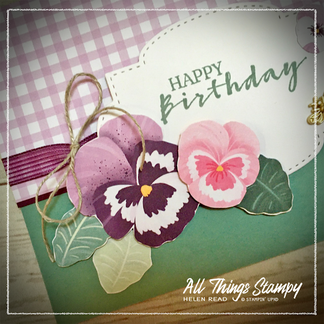 Stampin Up Pansy Petals Craft Kit by Post