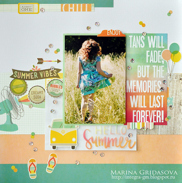 Summer vibes | Simple Stories @akonitt #layout #summer #simplestories #summervibes #by_marina_gridasova