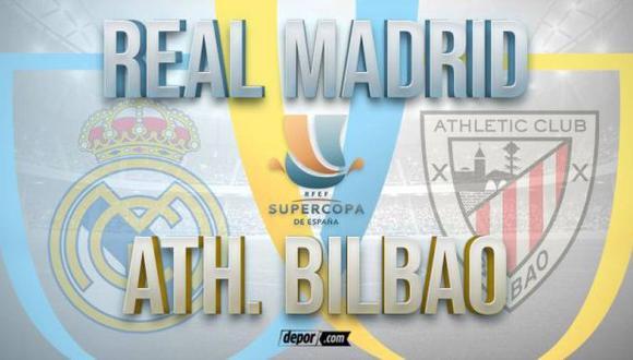 Real Madrid vs. Athletic Bilbao EN VIVO: minuto a minuto por la Supercopa
