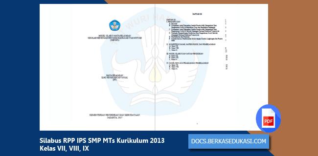 Silabus RPP IPS SMP MTs Kurikulum 2013 Kelas VII, VIII, IX