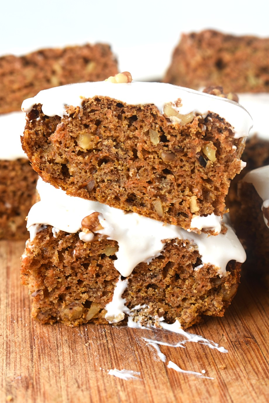 slices of healthy carrot cake