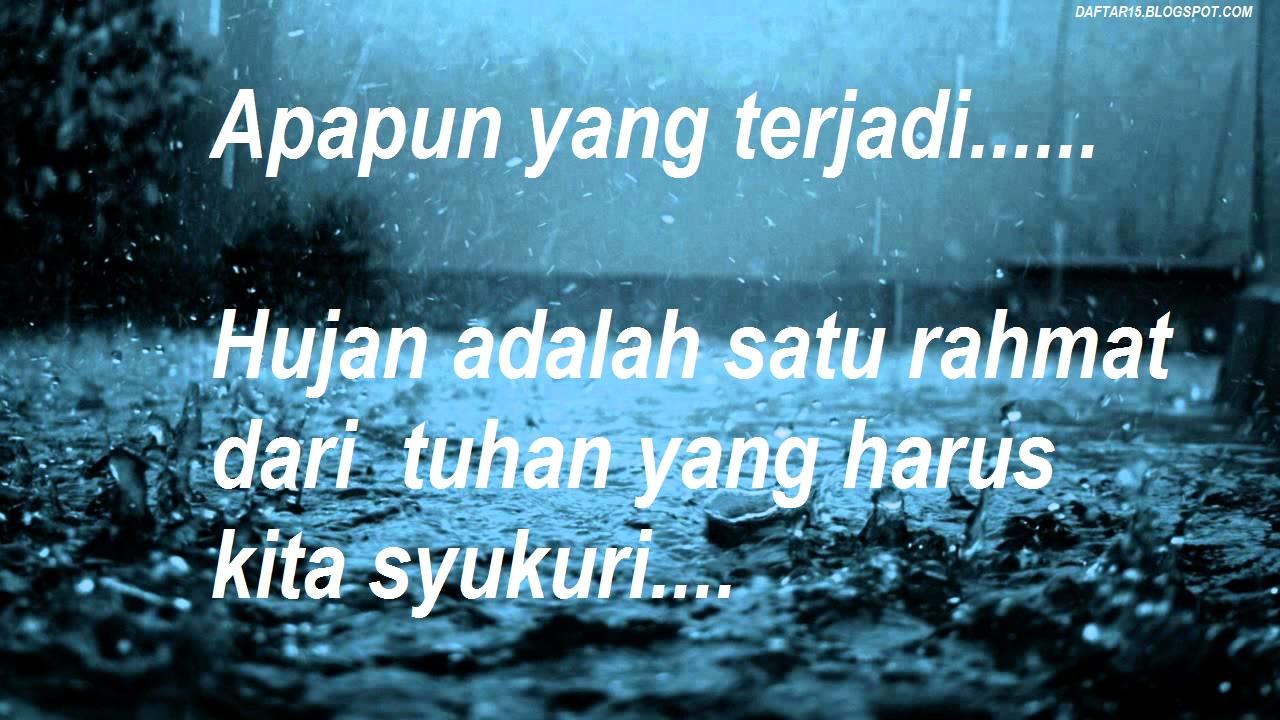 Kata Kata Bersyukur Atas Hujan