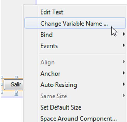 opción para cambiar el nombre de la variable del jbutton