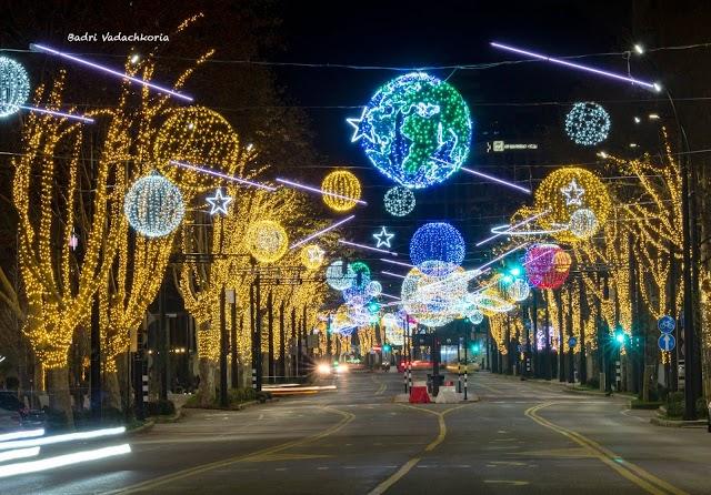 Новогодние улицы Тбилиси