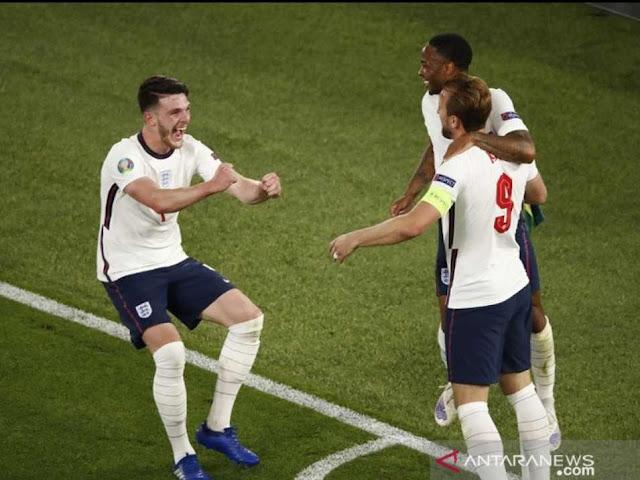 Inggris Gulung Ukraina 4-0 dalam perempat Final Euro 2020