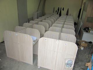 Meja Sekat Kantor Finishing Supercon + Furniture Semarang