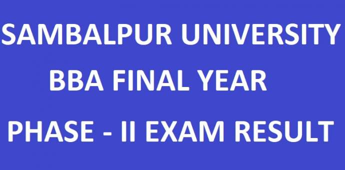 Sambalpur University BBA Final Year 2018 Phase-2 Results - manabadi