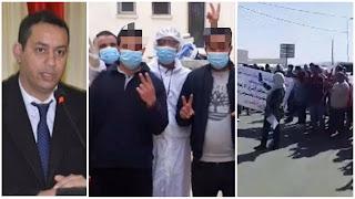 (بالفيديو) احتجاجات كبيرة و تهديد بالانتحار الجماعي و مرضى الكوفيد 19 يدخلون في إضراب جوع.. احتجاجا على اقالة الوالي و يطالبون بارجاع الوالي للعمل
