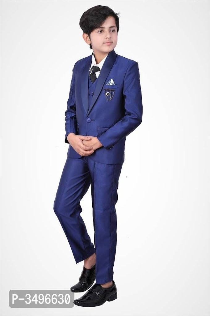 5 to 16 Years Old Boys and Kids Coat Suit with Shirt Pant Blazer Waistcoat & tie online  