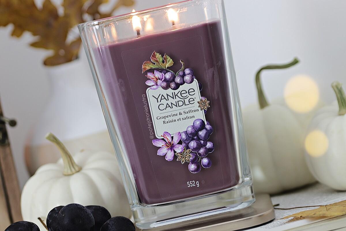 yankee candle grapevine & saffron blog recenzja