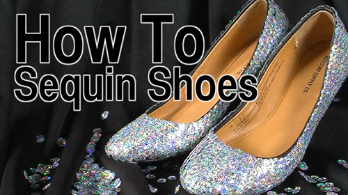 Make Your Own Sequin Shoes Using Tulip Fashion Sequins