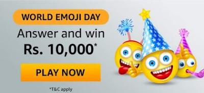 Amazon World Emoji Day Quiz Answers
