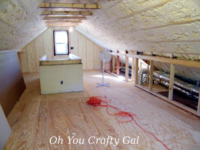 Attic Reno Dream Craft Room Updates Spray Foam And Drywall