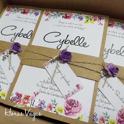 convite de aniversário 50 anos artesanal personalizado 30 anos floral aquarelado delicado boho chique rústico festa moderna diferenciado