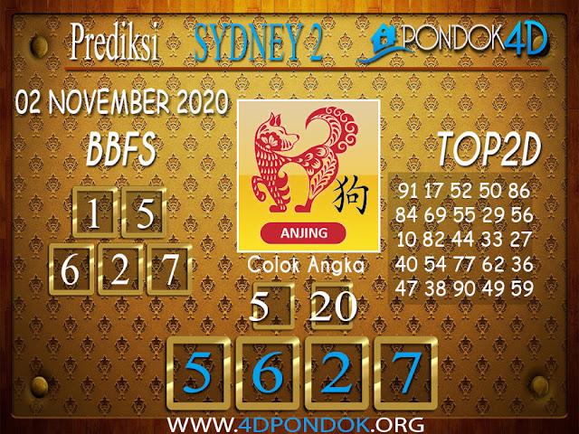 Prediksi Togel SYDNEY 2 PONDOK4D 02 NOVEMBER 2020