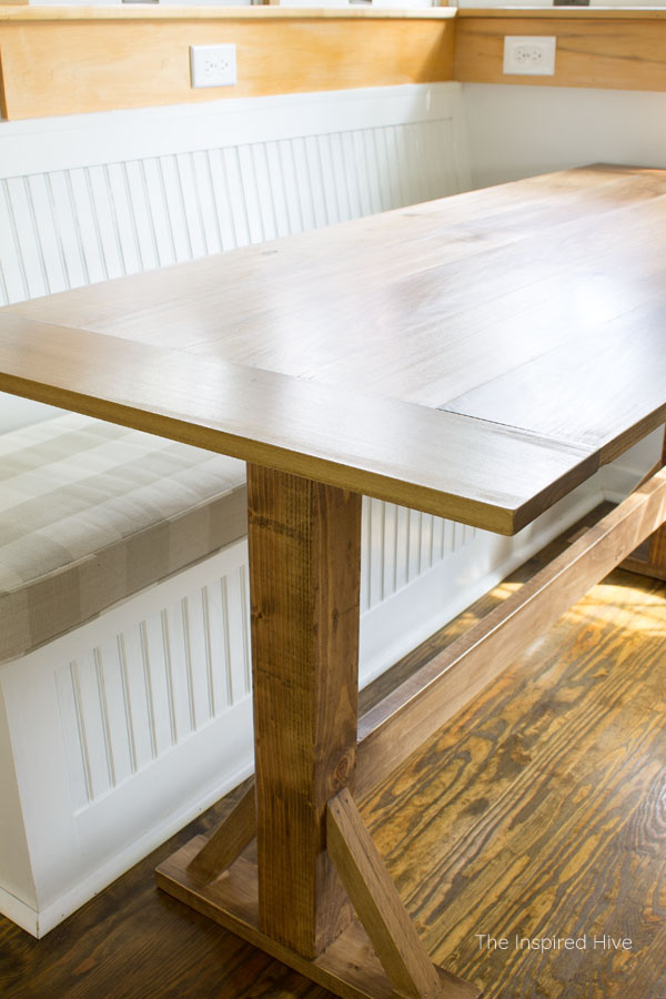 How to build your own breakfast nook farmhouse style table