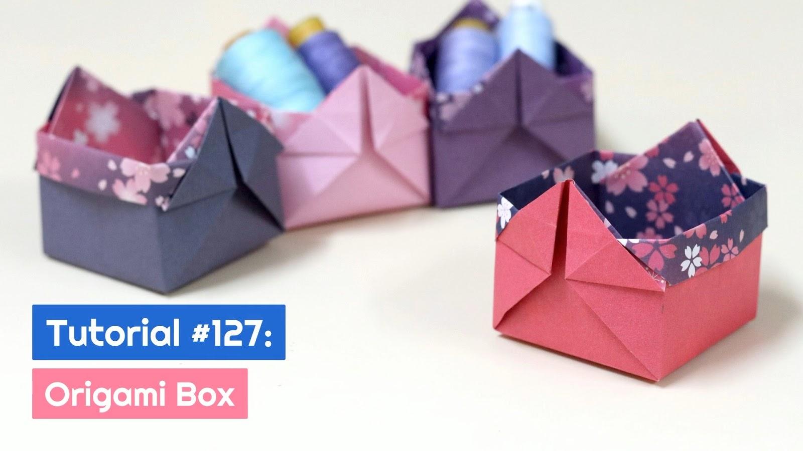 Origami Masu Box with Lid: Tutorial - YouTube | 900x1600