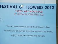 Art Nouveau panel, Festival of Flowers - Christchurch Botanic Gardens, New Zealand