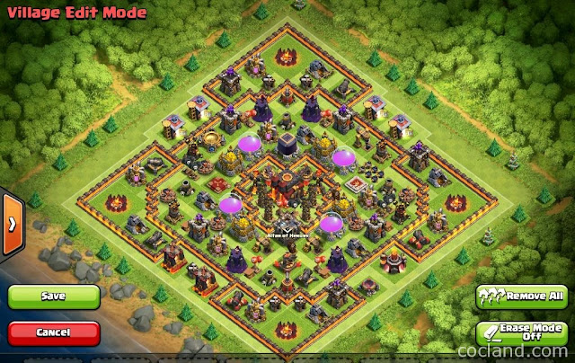 Update Base Layouts Town Hall 10 Walls Terbaru