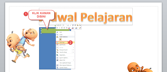 Cara Membuat Jadwal Pelajaran Bergambar Dengan Microsoft Word