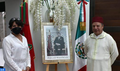 سفير المغرب بمكسيكو يتباحث مع وزيرة التعليم العمومي بالمكسيك