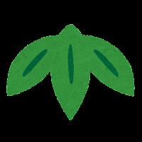 縁起物のイラストマーク(竹(笹))