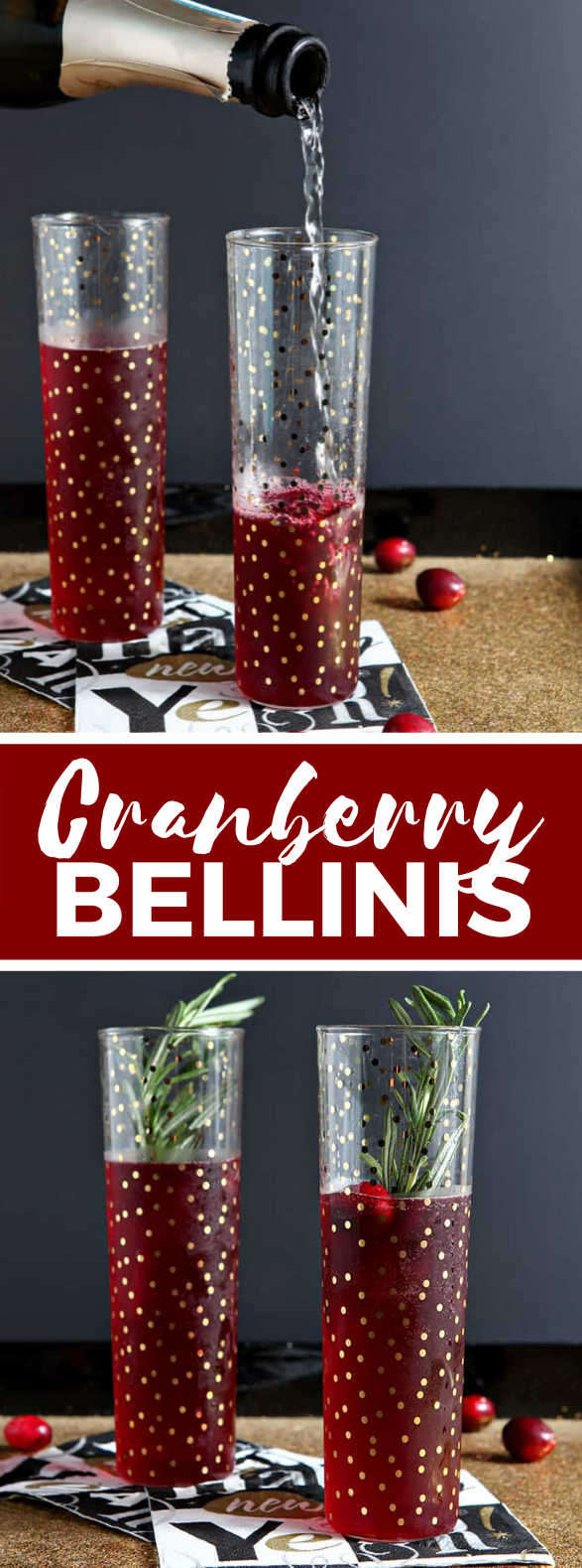 Cranberry Bellinis #drinks #cocktails