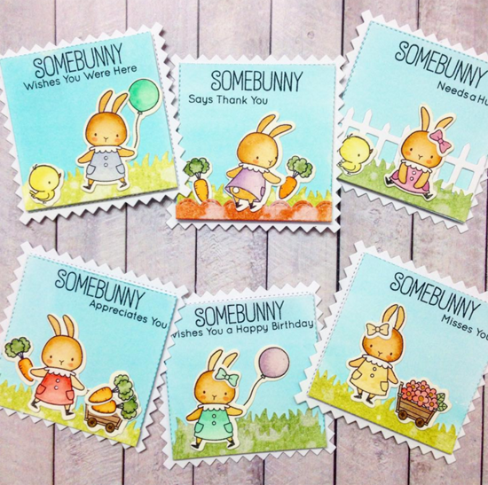 Birdie Brown Somebunny stamp set and Die-namics - Anuyami #mftstamps