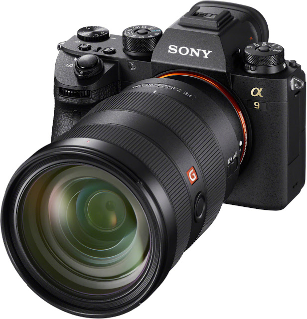 Sony a9 with lens attached