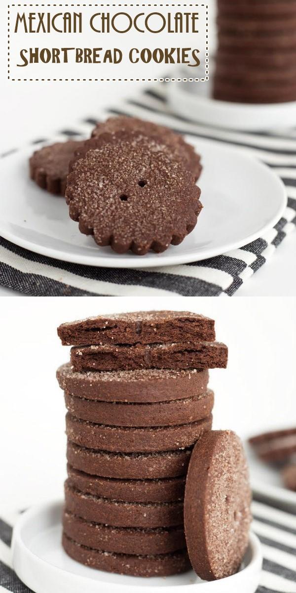 MEXICAN CHOCOLATE SHORTBREAD COOKIES #Cookiesrecipes
