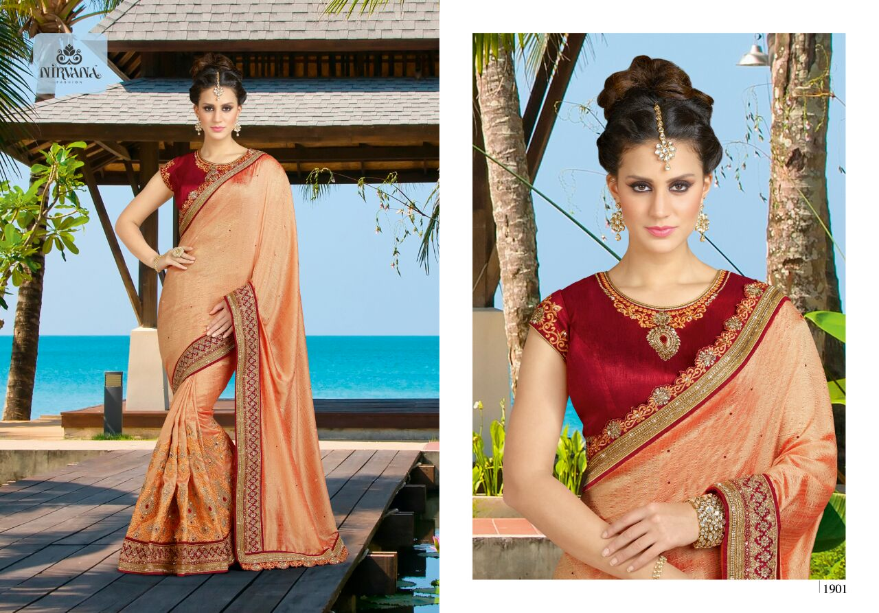 Nirvana 1901-1918 – Latest New Heavy Wedding Wear Designer Saree