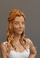 ritratto realistico statuetta personalizzata sposa modella cake topper statuine anniversario orme magiche