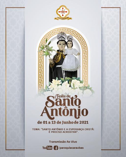 Festa de Santo Antônio padroeiro do bairro Leandro Bezerra em Caraúbas; confira programação