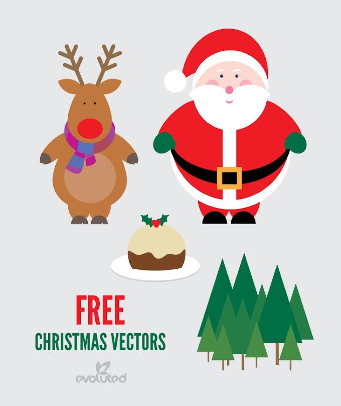 FREE CHRISTMAS VECTORS – SANTA, REINDEER AND CHRISTMAS PUDDING