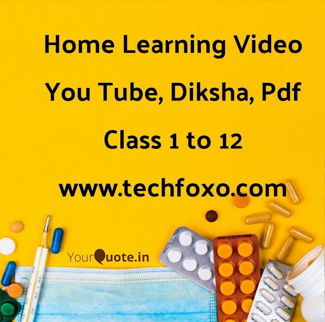 20-11-2020 GCERT Home Learning You Tube, Diksha Video