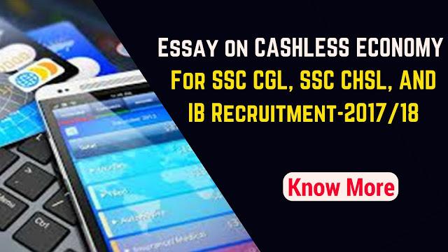 Essay on Cashless Economy  in english