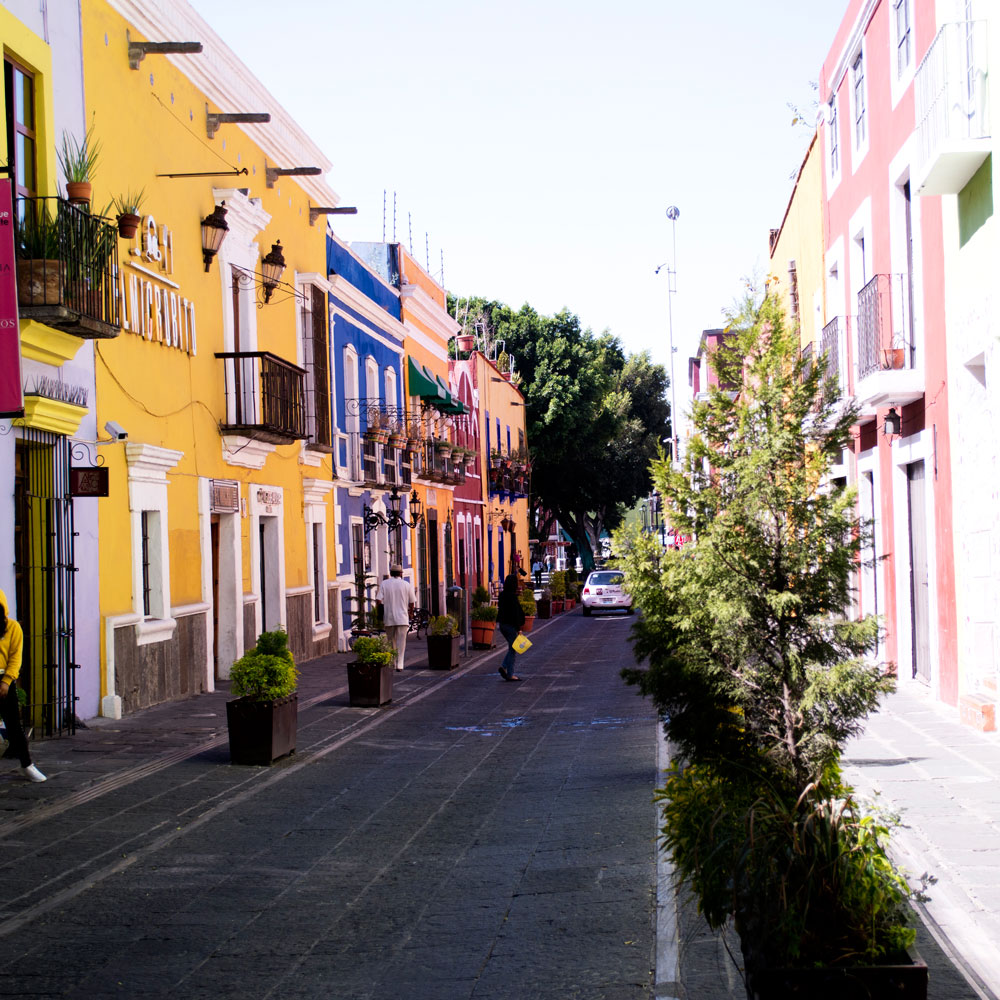 Colorful streets of Puebla Mexico