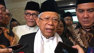 Ma'ruf Amin Sebut Jokowi Siapkan Menteri dari Kalangan Muda