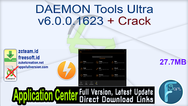 DAEMON Tools Ultra v6.0.0.1623 + Crack